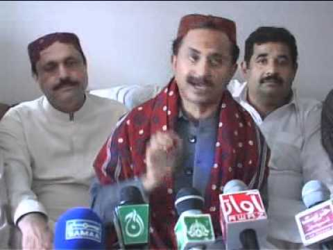 Minister Relief Sindh Haleem Adil Sheikh Reception at Dadu and addressing Press Conference