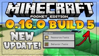 getlinkyoutube.com-NEW MCPE 0.16.0 BUILD 5 UPDATE! - All New Features Fixed?! - Minecraft PE (Pocket Edition)