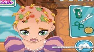 getlinkyoutube.com-Disney Princess Rapunzel  / Baby Rapunzel Hair Doctor  Games Compilation for Girls