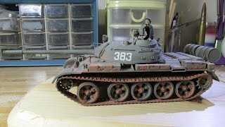 getlinkyoutube.com-Building Tamiya Russian T-55A Tank. From Start to Finish. 1/35 Scale.