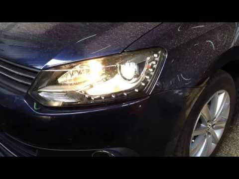Апгрейд VW Polo sedan 5. Адаптивное освещение в ксеноновых фарах.