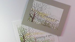 getlinkyoutube.com-Stampin'Up!: Sheltering Tree Scene Sympathy Card
