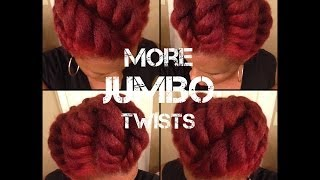 getlinkyoutube.com-Another JUMBO Flat Twist Updo