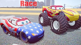 getlinkyoutube.com-Grand Theft Auto IV - Funny Video of Patriot LIGHTNING MCQUEEN GTA IV Mods Gameplay