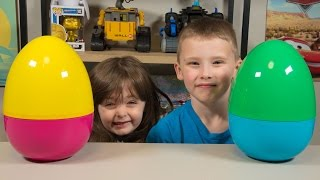 getlinkyoutube.com-HUGE Toy Surprise Eggs for New Years Blind Bags Toys for Boys & Toys for Girls Kinder Playtime