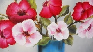 getlinkyoutube.com-Como pintar flores en Óleo Pinceladas Silvia Mongelos