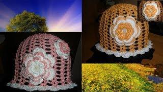 getlinkyoutube.com-Вязаная панамка (шапочка) крючком. Knitted hat Summer.