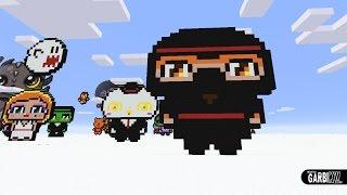 getlinkyoutube.com-Minecraft Pixel Art - How To Make a Cute Ninja by Garbi KW