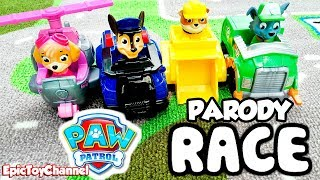 getlinkyoutube.com-PAW PATROL Toys [Parody] Race At Paw Patrol Look Out Station [Paw Patrol Toy Video]