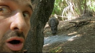 getlinkyoutube.com-A Hippo Visits Ed's Camp - Marooned With Ed Stafford