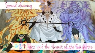 getlinkyoutube.com-Speed Drawing - Naruto and the Hermit of the Six paths #2