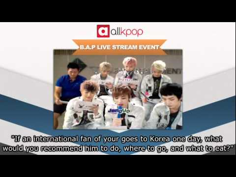 RELIVE IT: Exclusive B.A.P Live Stream on allkpop! [Part 4/5]