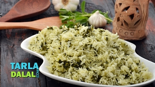 getlinkyoutube.com-Methi Garlic Rice by Tarla Dalal