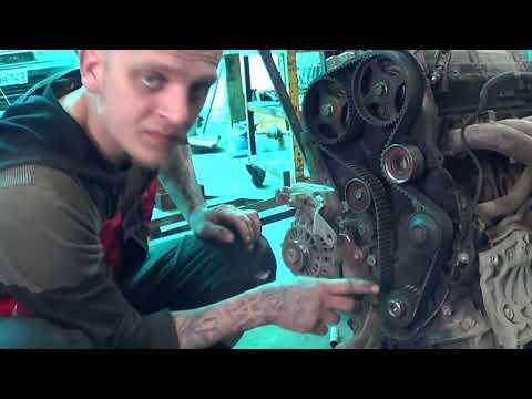 Установка ремня грм на двигатель 4G93 (G9GDI)