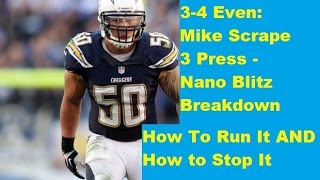 getlinkyoutube.com-Madden 16 - Complete 3-4 EVEN MIKE SCRAPE 3 PRESS NANO BLITZ BREAKDOWN
