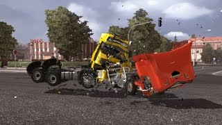 getlinkyoutube.com-Part 2 - Competition Continues - Volvo FH VS Renault Premium - Crash Test - Drifting