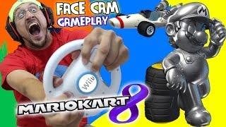 getlinkyoutube.com-Mario Kart 8 - Pt. 3: Crazy Dad is a Crazy Driver [MUSHROOM CUP] !METAL MARIO Unlocked!