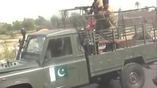 Pakistan Army firing on JSQM workers