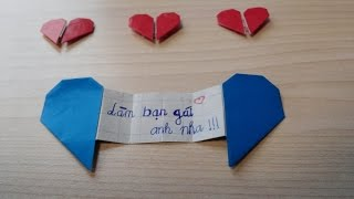 getlinkyoutube.com-[Origami] Hướng dẫn gấp TRÁI TIM TỎ TÌNH - Làm bạn gái anh nha
