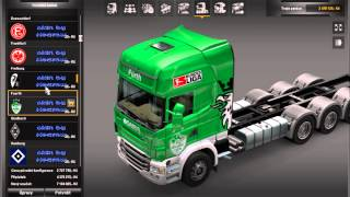 getlinkyoutube.com-Euro truck simulator 2  mod Tuning Scania tandem