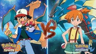 Pokemon Sun And Moon: Kanto Ash Vs Misty (Kanto Battle)
