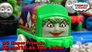 "getlinkyoutube.com-Thomas and frineds ""DC Super Friends MINIS Diesel 10 as The Joker"" ミニミニトーマス ジョーカーになったディーゼル10"