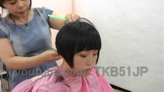 getlinkyoutube.com-☆ Haircut #561  Short BOB ショートボブ