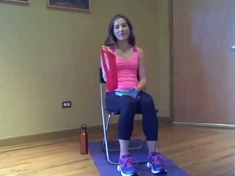 Chair Exercises using Resistance Bands