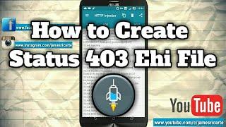 How to Create Status 403 Ehi File