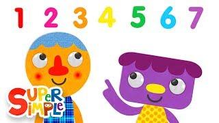 getlinkyoutube.com-Seven Steps | Numbers Song | Super Simple Songs