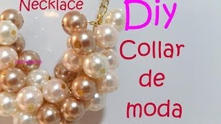 getlinkyoutube.com-Diy. Necklace Collar de moda