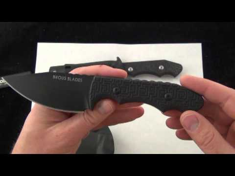 Brous Blades Threat Fixed Blade Knife, D2 Steel limited Run of 300