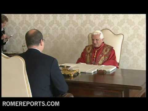 Pope welcomes Prince Albert of Monaco