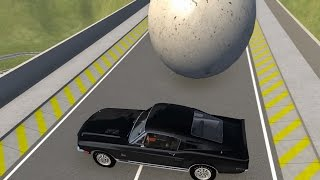 getlinkyoutube.com-Crushing Cars with Giant Marbles 2 - BeamNG.Drive Car Accident