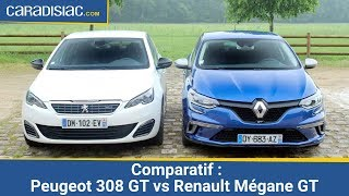 getlinkyoutube.com-Comparatif 2016 – Peugeot 308 GT vs Renault Mégane GT  : derby attendu