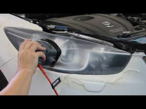 Восстановление пластика фар Mazda CX-5(химполировка)