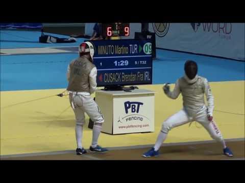 Mens Foil DE Bouts - European Fencing Championships 2016