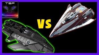 getlinkyoutube.com-Elite Dangerous - Federal Assault Ship vs Fer De Lance (Best Fighters?)