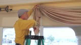 getlinkyoutube.com-Video #36: DIY Drapery: Luxurious Window Treatments with Valances, Swags, Scrolls and Holdbacks