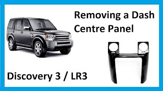 getlinkyoutube.com-How to remove dash centre panel on Land Rover Discovery 3/ LR3