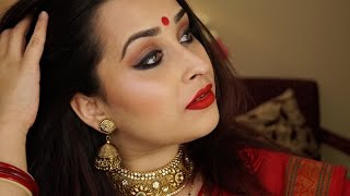 getlinkyoutube.com-Get Ready with me | Indian Festive Bengali Look