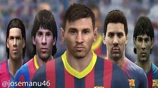 getlinkyoutube.com-Lionel MESSI from PES 4 to PES 2014