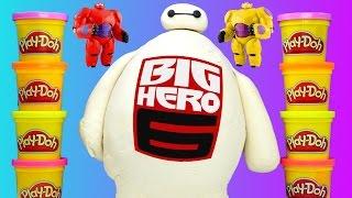 getlinkyoutube.com-HUGE Baymax Toy Egg Play Doh Surprise Lego Marvel Big Hero 6 TMNT Shopkins MLP LPS Eggs