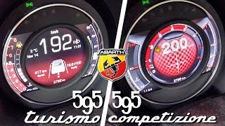 getlinkyoutube.com-Abarth 595 Competizione vs Turismo 0-200 km/h Acceleration