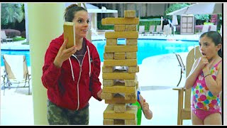getlinkyoutube.com-POOL PARTY JENGA!