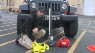 getlinkyoutube.com-Winching with the Hi-Lift Jack and Off Road Recovery Kit
