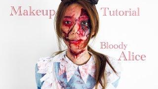 getlinkyoutube.com-倪晨曦makeup tutorial - bloody alice暗黑愛麗屍(eng sub)