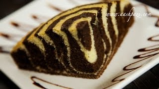 getlinkyoutube.com-Zebra Cake Recipe (Pastry)