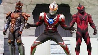 サンダーブレスター 初登場! カッコよすぎ! ウルトラマンオーブショー ジャグラー魔人態 ベリアル も出てくるよ 最前列高画質 特撮 Ultraman show kidsshow
