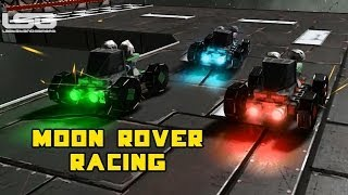 getlinkyoutube.com-Space Engineers - Moon Rover Racing Mini Game, Cars in Space ?